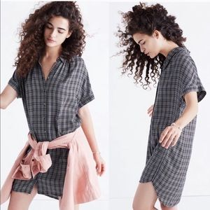 Madewell Plaid Shirtdress